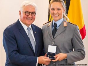 Lisa Buckwitz: Verleihung Silbernes Lorbeerblatt. Bundespräsident Frank-Walter Steinmeier